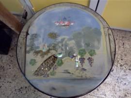 tavolo, dipinto, liberty
