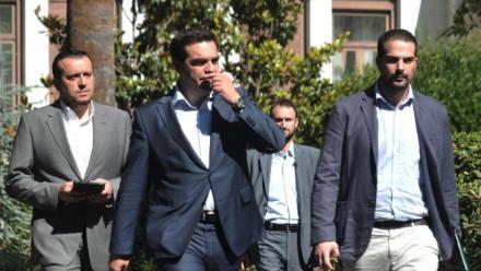 Alexis Tsipras, Nikos Pappas, Gabriel Sakellaridis,