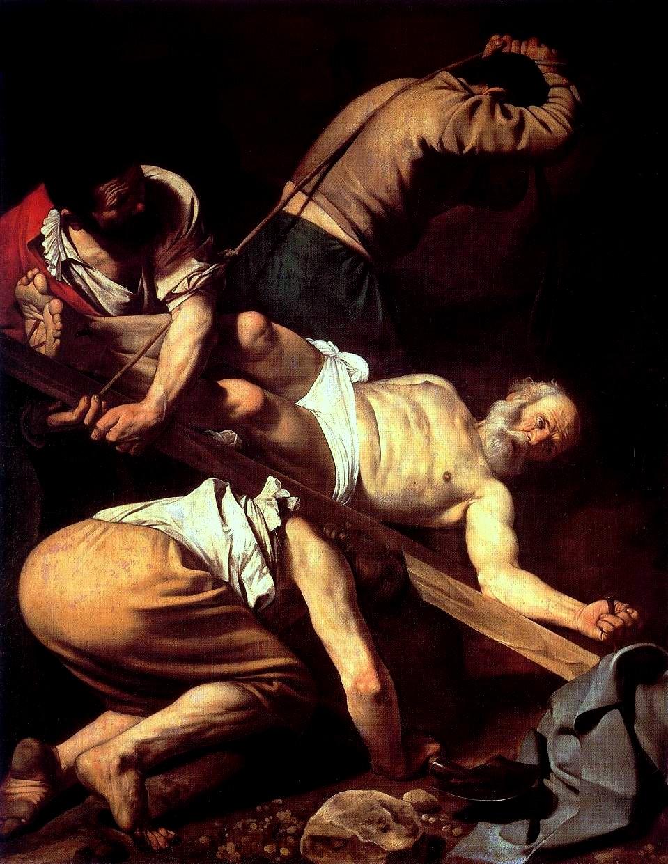 Caravaggio e Guido Reni: Crocifissione di S.Pietro