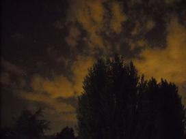 nuvole, notturno.