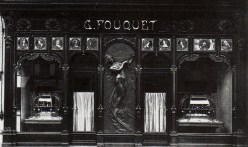 Exterior of Georges Fouquets Jewellery Shop designed by Alphonse Mucha