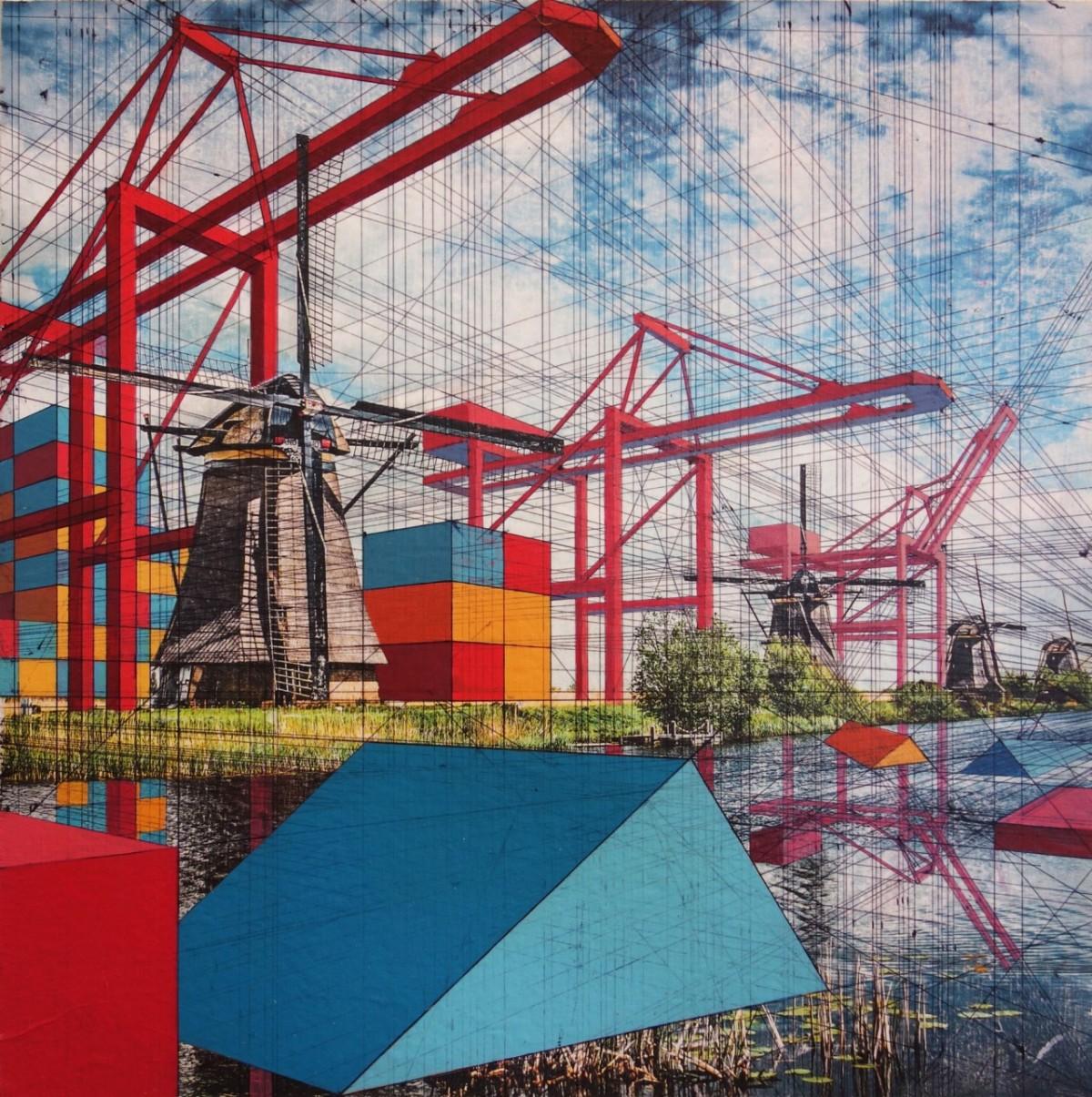 Arte e curiosità – Pittura – I paesaggi industrializzati di MaryIverson