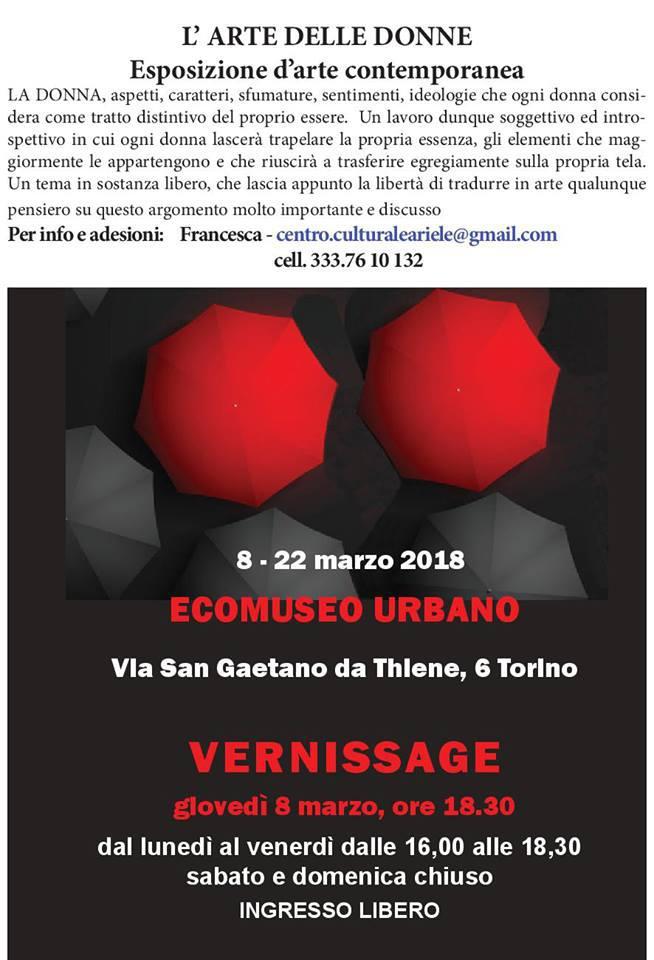 L'arte delle donne, Torino, 8 marzo – 22 marzo2018